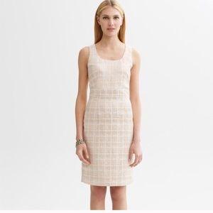 Dresses & Skirts - Banana Republic Gold Houndstooth sheath Dress